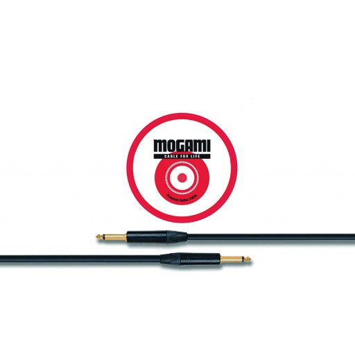 Mogami Gold Instrument 3m Cable with Neutrik Black and Gold jacks (both straight) (2524)
