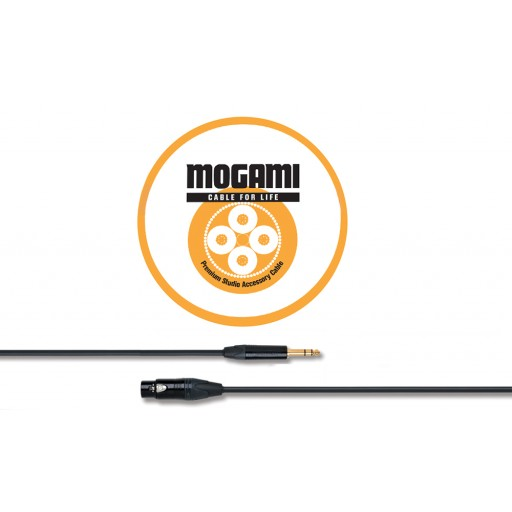 Mogami 1m XLRF - TRS Jack Cable with Neutrik Black and Gold Connectors (2534)