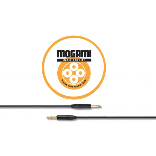 Mogami 3m TRS Jack - TRS Jack Cable with Neutrik Black and Gold Connectors (2534)