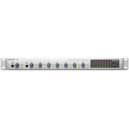 PreSonus DigiMAX D8 Front Panel