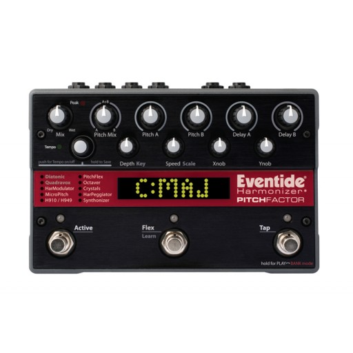 Eventide Pitchfactor Harmonizer Stompbox front above