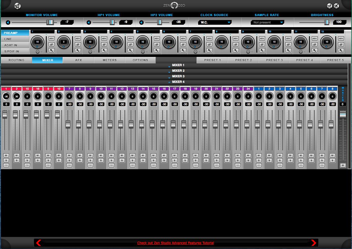 Zen Studio Mixer Page