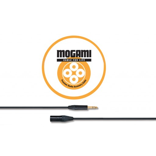 Mogami 5m TRS Jack - XLRM Cable with Neutrik Black and Gold Connectors (2534)