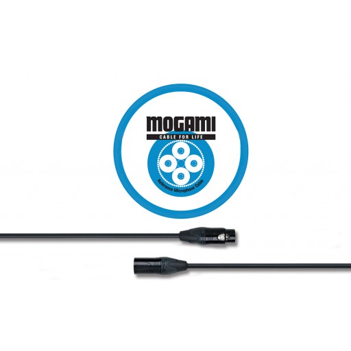 Mogami 1m XLRF - XLRM Mic Cable with Neutrik Black and Gold XLR (2534)