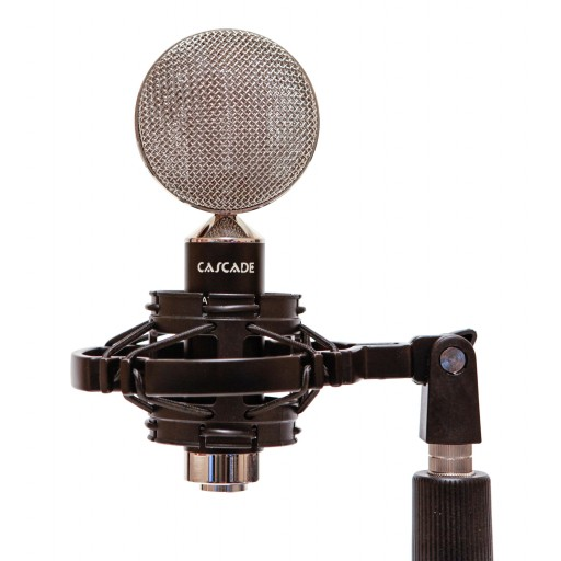 Cascade Microphones Fat Head II Black & Silver in shock mount