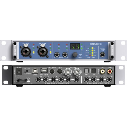 RME Fireface UCX Audio Interface Front and Rear