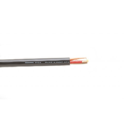 Mogami Four 4mm (12AWG) conductor speaker cable (3104, W3104)