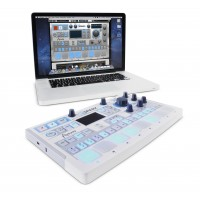 Arturia Spark LE angled with macbook screenshot